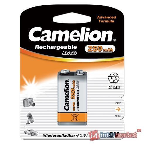 Аккумулятор Camelion 9V (NH-9V250BP1), Professional, NiMH, 250mAh/9V