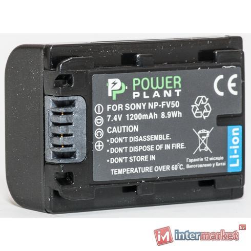 Аккумулятор PowerPlant Sony NP-FV50 1200mAh