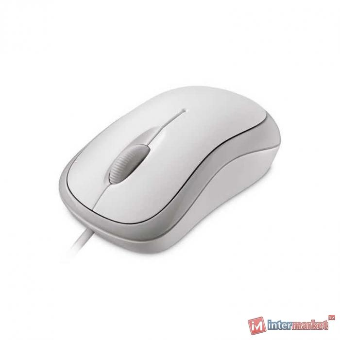 Компьютерная мышь Microsoft Bsc Optcl Mouse for Bsnss PS2/USB EMEA Hdwr For Bsnss White