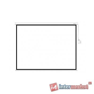 Экран моторизированный (с пультом Д/У), Deluxe, DLS-ERC180W, Настенный/потолочный, Рабочая поверхность 172x172, 1:1, Matt white, Белый