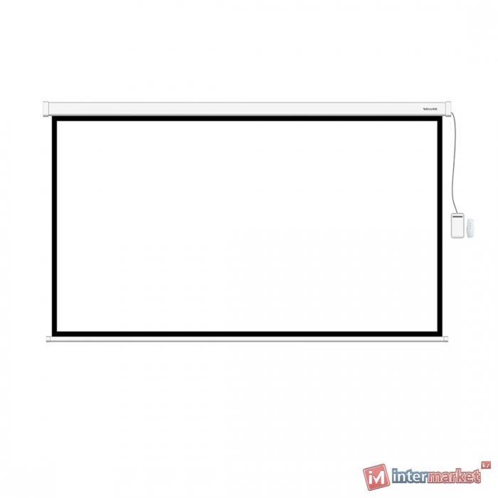 Экран моторизированный (с пультом Д/У), Deluxe, DLS-ERC240x135W, Настенный/потолочный, Рабочая поверхность 232x127, 16:9, Matt white, Белый