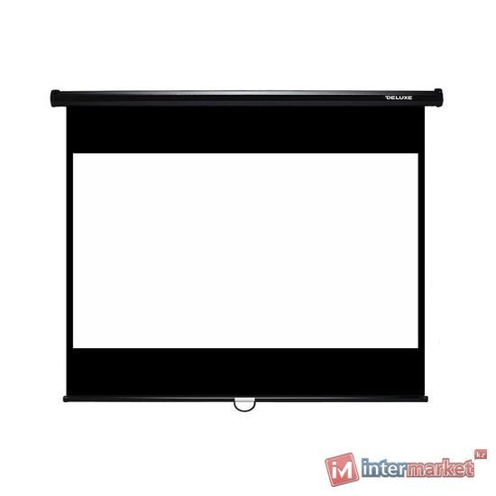 Проекционный экран, Deluxe, DLS-M229-185, Настенный, 229x185, Matt white, Чёрный