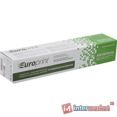 Тонер-картридж, Europrint, KX-FAT411A, Для принтеров Panasonic KX-MB1900/2000/2020/2030/2051/2061, 2000 страниц.